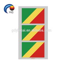 Etiqueta engomada temporal del cuerpo del tatuaje para la bandera nacional del aficionado al fútbol del mundial de fútbol