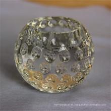 Candelero votivo cristalino cristalino del color sólido garantizado del precio adecuado de la calidad