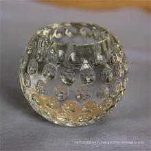 Bougeoir votive en cristal de couleur solide de prix garanti
