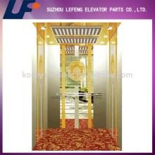 Titanium Etched Mirror Passenger Elevator Cabin