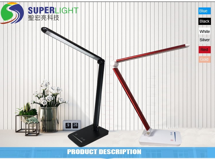 Home Office Decoration Desk Lamp Red Color