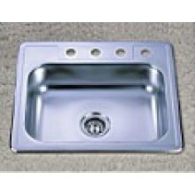 Сантехнические изделия Одноместный Bowl из нержавеющей стали Kitchen Sink (KTS2522)