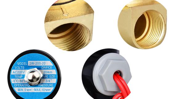 Detail enlargement of 2W160-15 solenoid valves