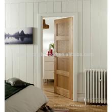 Shaker roble blanco 4 paneles puerta para el dormitorio, puerta de chapa de corte de corona