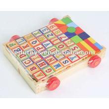 Wasserbasierte Farbe für Holzspielzeug Letter Wooden Block Cart