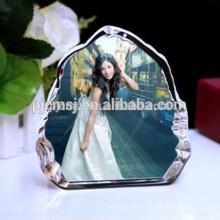 Beau cadre en cristal transparent pour la décoration de mariage