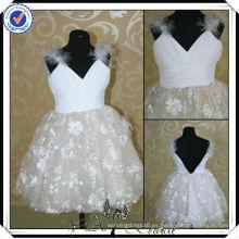 FF0007 vestidos de la flor de la flor de la muestra verdadera dos para la muchacha de 5 años