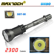 Maxtoch SN90 3 * 18650 hellsten wiederaufladbaren SST-90 LED Jagd Fackel