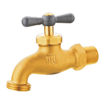 Brass bibcock, threaded water tap,sanitary wares
