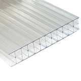 10 year warranty polycarbonate hollow sheet triple wall X type for pool cover/car shelter