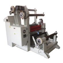 Máquina rebobinadora de corte com 3 rebobinamentos e 2 eixos de rebobinamento