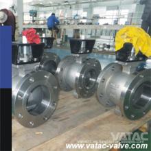 Válvula de bola del puerto de la oblea A216 Wcb / Lcb / Wc6 / Wc9 / CF8 / CF8m V