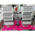 Double heads 12 needles flat computerized embroidery machine prices