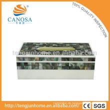 Tissue Papier Natürliche Handwerk Schwarze Lippe Perlmutt Tissue Box