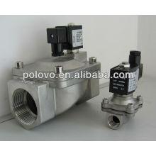 El hilo de acero inoxidable normalmente cierra la válvula solenoide de vapor de 220v