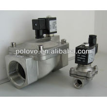 Tipo de rosca de aço inoxidável normalmente fechado válvula solenóide de vapor 220v