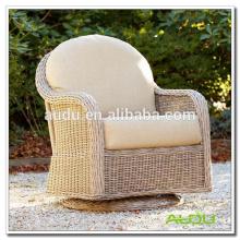 Audu Handmade Garden Outdoor Rattan cadeira giratória