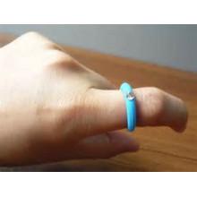 Anillo de dedo de goma de silicona personalizado