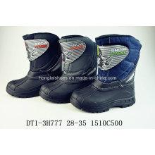 Dark Brown Genuine Leather Snow Boots