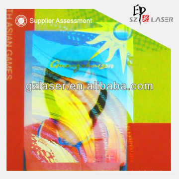 Hologram custom plastic transparent pouch for id card