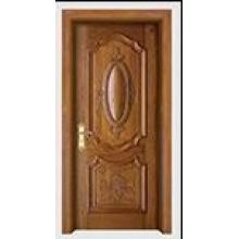 Decorative Solid Wood Composite Paint Door