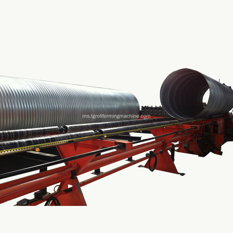 Dipasang Culvert Pipe Corrugated Panel Mesin harga