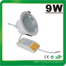 Lámpara LED Dimmable 9W LED Down Luz LED Luz
