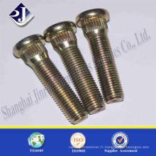 Chine High quality grade 10.9 fil de zinc jaune brillant Boulon de roue Bol de moyeu