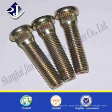 China High Quality grade10.9 yellow zinc fine thread Wheel bolt Hub Bolt
