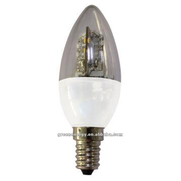 Vela regulável, C35, E14, E12, 24 LEDs SMD335