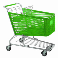 Various Liter Supermarket Plastic Trolley Shopping Trolley by Manufacturer Yuanda Factory