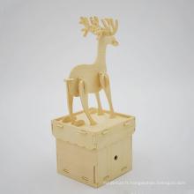 Décoration de table de noël puzzle en bois jouet de noël pour les enfants