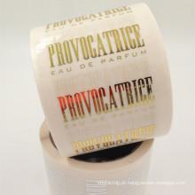 etiqueta cosmética personalizada da etiqueta do selo da folha de ouro da impressão