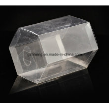 Customized Clear PVC Box (plastic hexagon can)
