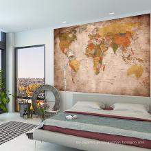 High-End Home instalação mapa do mundo adesivo de parede de vinil