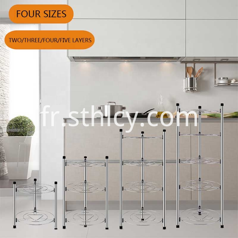 2345 Layers Kitchen Stainless Hanging Pot Rack