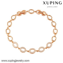 74516 xuping new fashion 18k gold plated women bracelet for gifts