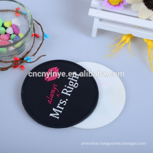 Custom logo promotional soft PVC rubber drink coaster pvc coaster