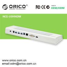 NCE-U3HNDM-WH-800 Station d'accueil multifonction pour ordinateur portable avec interface USB3.0, bloc de refroidissement pour ordinateur portable