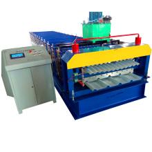 Rolo de dupla camada de dobra de aço corrugado que forma a máquina