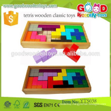 Educational Combination Toy Promotional Kids Wood Toys Tetris Wooden Classic Toys
