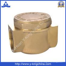 Válvula de verificação de bronze forjado do bronze com cor de bronze (YD-3010)