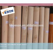Parafusos de madeira dupla rosca alça de vassoura de madeira