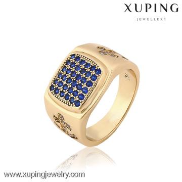 12832 China Wholesale Xuping Moda Elegante 18K banhado a ouro Men Anel