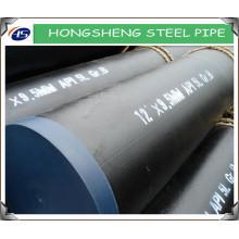 API 5L GrB ERW chanfrein / tuyaux en acier au carbone à simple extrémité avec une bonne qualité