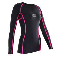 Señoras Dry Fit Sports Camisetas V Neck (SRC233)