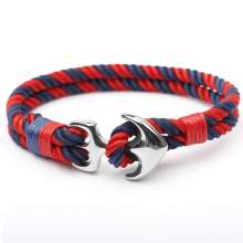 Stål Ankare Hook Sailor Rope Custom Handgjorda Armband