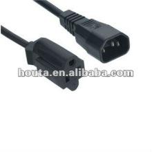 Conector IEC C14 Receptáculo Nema 5-15R