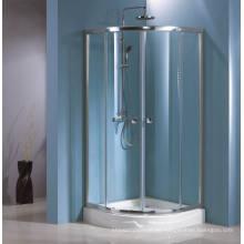 Recinto de ducha de vidrio templado simple competitivo (HR-249Q) con doble capa de fácil limpieza
