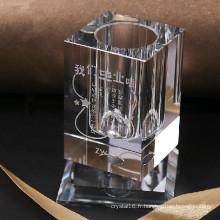 Cadeaux de promotion de mode Crystal Pen Holder Rotate Pen Stand